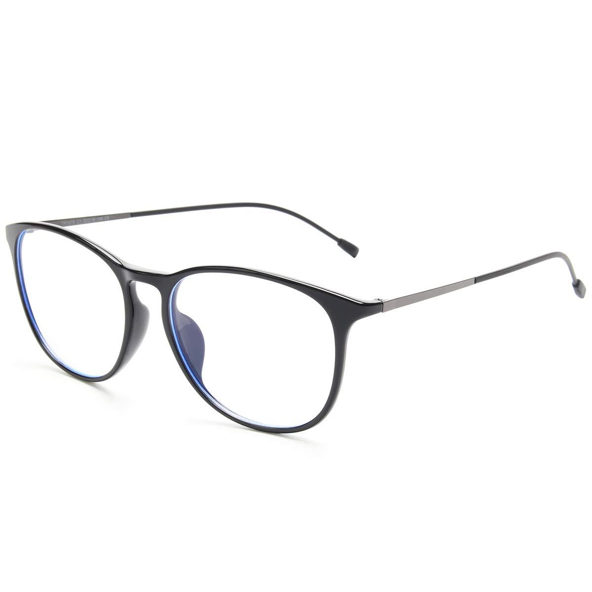 Livho Blue Light Blocking Computer Glasses for Women Men,Anti Glare UV Filter TR90 Eyewear Frame Eyeglasses 0.0 Diopter