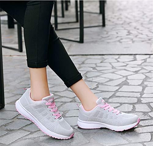 Nuove 35 Scarpe Nuove traspiranti Scarpe stringate donna Dimensione B viaggio casual da UN Colore da e piatte autunno leggere da Exing scarpe donna sneakers qta8xB8n