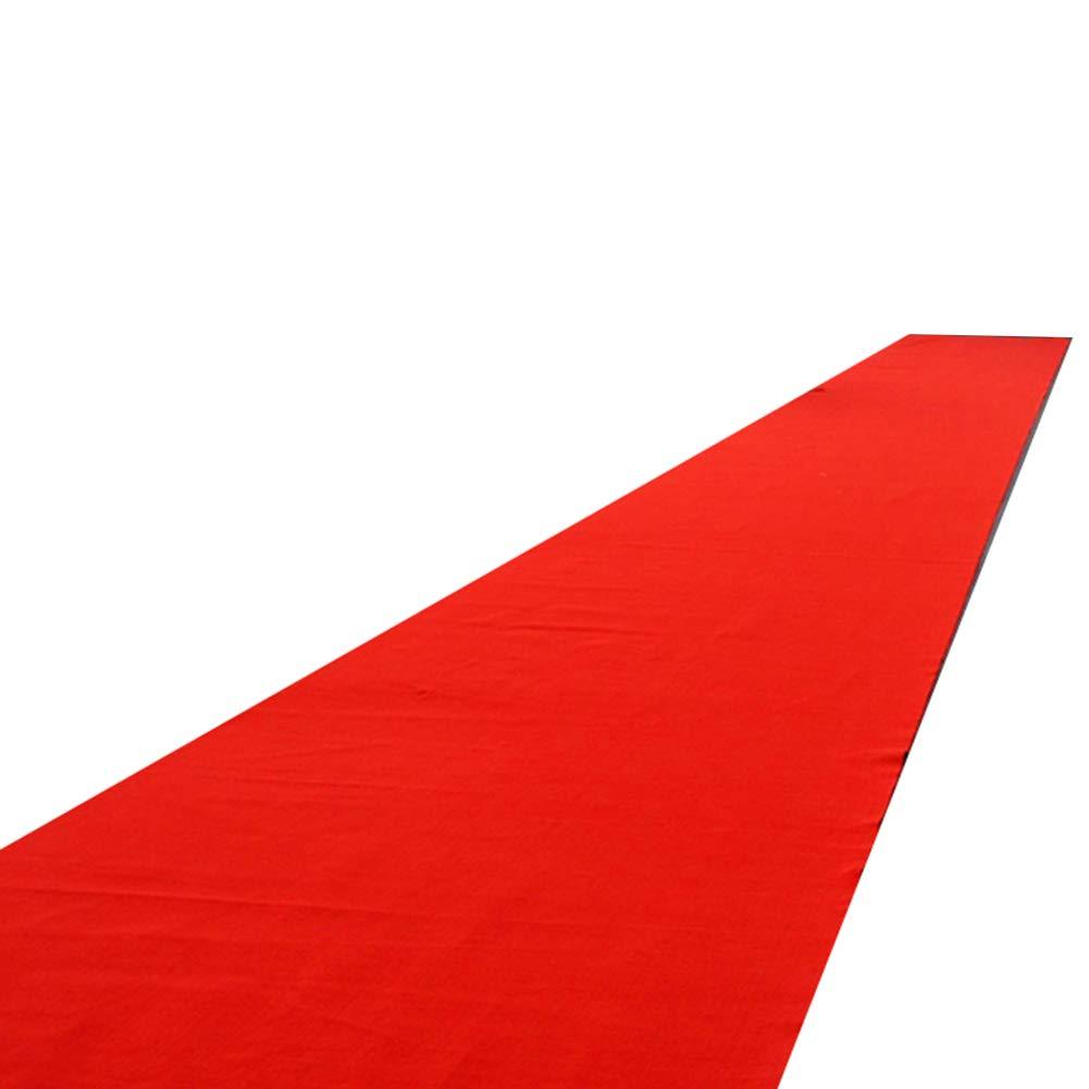 WENZHE Carpet Tappeto Tappeti E Tappetini Moquette Monouso Rosso Nozze Festa Addensare Antiscivolo Celebrazione Dell\'evento Multifunzione, 2mm Di Spessore, Dimensione Personalizzabile
