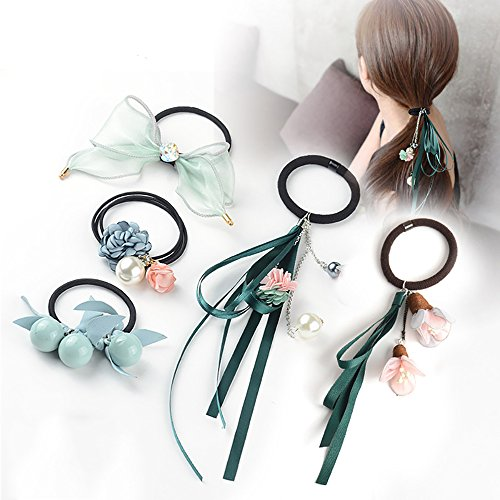 New Arrival Korean Style Hair Ties Set Ponytail Holder,Elegant Ribbon