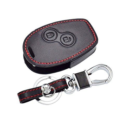 Leather Car Key Case For Renault Clio Scenic Megane Duster Sandero Captur Twingo Modus 2 buttons