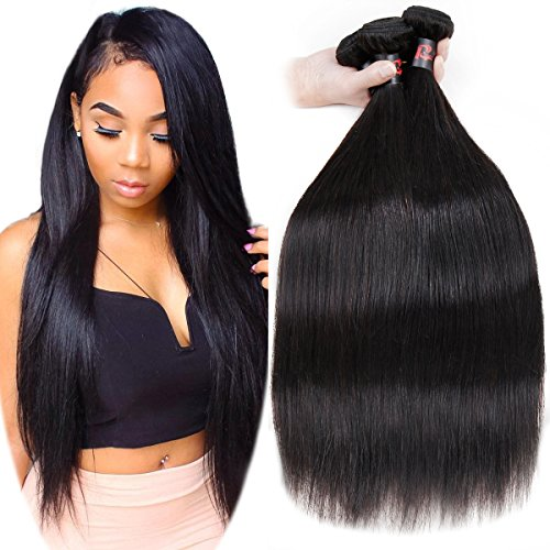 RESACA Wholesale Brazilian Straight Hair Weave 3 Bundles Human Hair Extensions Remy Unprocessed Brazilian Virgin Hair 95-100g (12