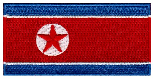North Korea Flag Embroidered Patch Korean Iron-On National (Korean Men National Costume)