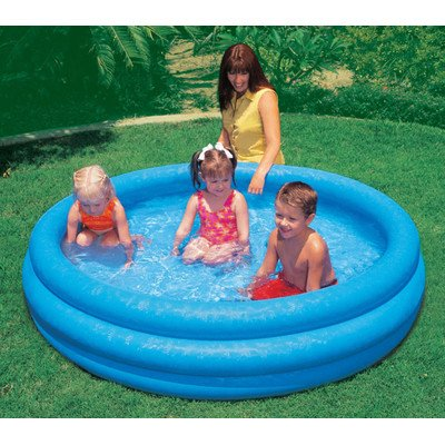 INTEX FBA_58446EP Crystal Blue Kids Outdoor Inflatable 66'' x 15''Swimming Pool, Beige, 8'' by INTEX