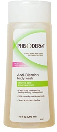 pHisoderm Anti-Blemish Body Wash 10 oz Pack of 4