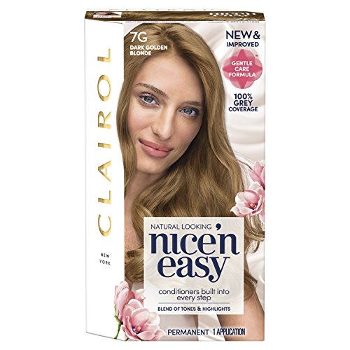 Golden Blonde Kit - Clairol Nice'N Easy Crème 7G Dark Golden Blonde (1 Kit)