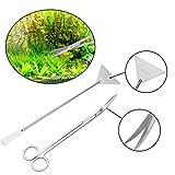 Sainish Aquarium Scissor Tweezers Spatula Tool - 6