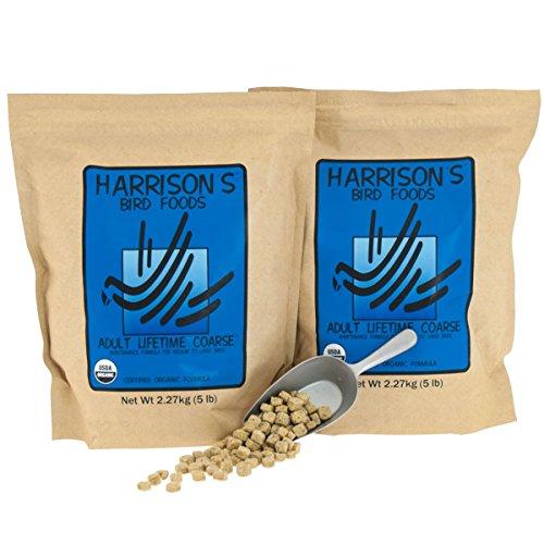 Harrisons Adult Lifetime Coarse 5 lb (2 Bag Value Pack) by Harrison's Bird Foods