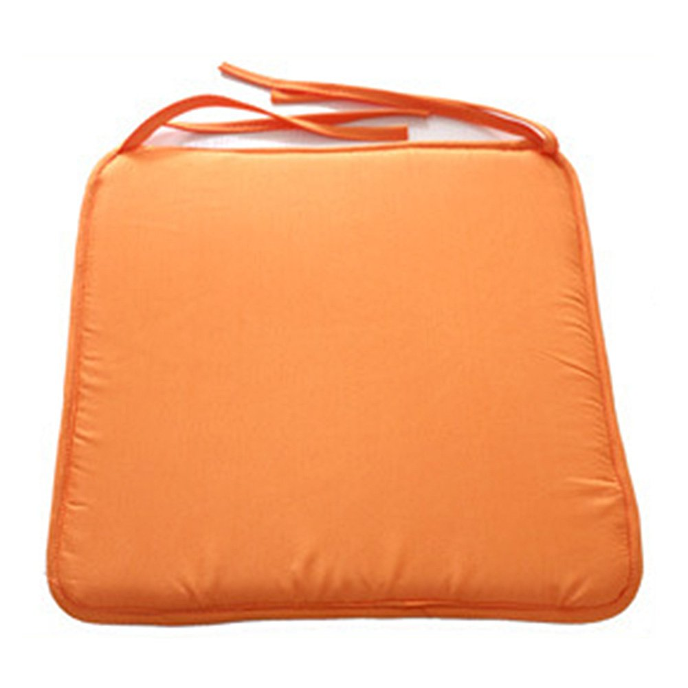 Beige SUPEWOLD quadrato sedia cuscini/ Taglia libera /colore solido sedia sedile imbottito con cavo per patio casa divano decorazione 40/cm x 40/cm