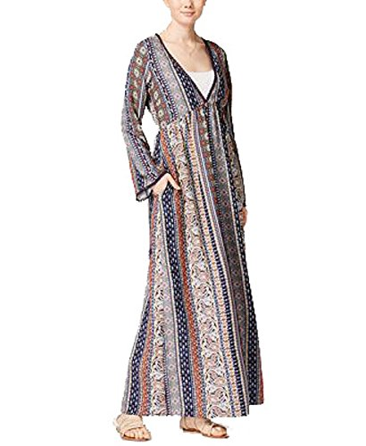 Dress Navy Rag Printed Multi American Maxi nqxIZfUtU