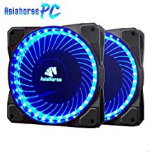 Asiahorse MIRAGE 32LED 120mm Cooling PC Compute custom Quiet case fan 2PACK(Blue)