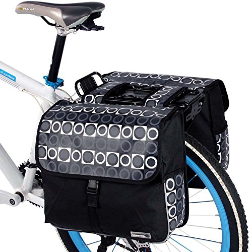 ROSWHEEL 28L Cycling Bicycle Bike Rear Rack Tail Seat Bag Pannier Double Side Outdoor Travel