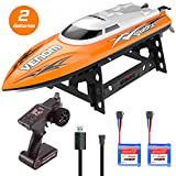 RC High Speed Boat Toys, Remote Control Toys for Adults and Kids, Bonus Battery, High Speed up to 20KM/H, Water cooling system, Self-righting system, RC boat for Pool/Lake/Outdoor, Orange, Gift. (orange)