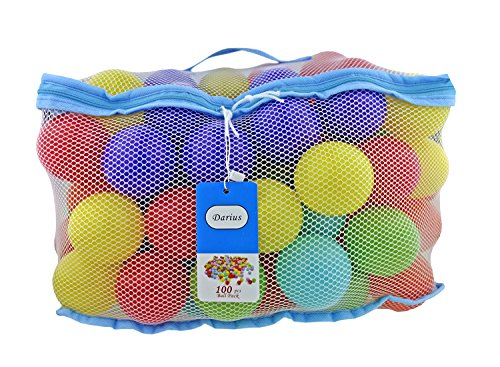 Darius 100 Pit Balls Ocean Ball Colored Plastic Balls 6 Bright Colors, Phthalate Free BPA Free, Reusable Crush Proof for kids (Blue, red, green, yellow, purple, (Where Can I Buy Cat Eye Contacts)