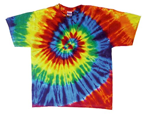 Rockin' Cactus Men's Tie Dye T-Shirt-Rainbow Spiral-5X (T-shirt Swirl Dye Rainbow Tie)