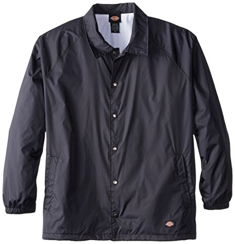 Dickies Men's Big Snap Front Nylon Jacket, Dark Navy, 5X