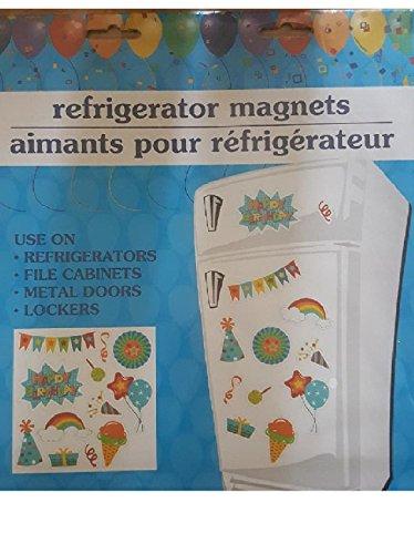 Happy Birthday Door Refrigerator Magnets Large Kitchen Decor Word Stickers (Happy Birthday Confetti) -