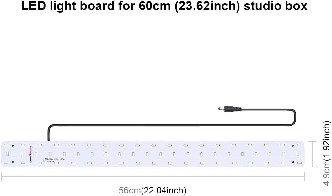 Camera Accessories HA 30W 1690LM 60 LEDs SMD 5730 5500K Aluminum Base Light Panel for 60cm Studio Tent