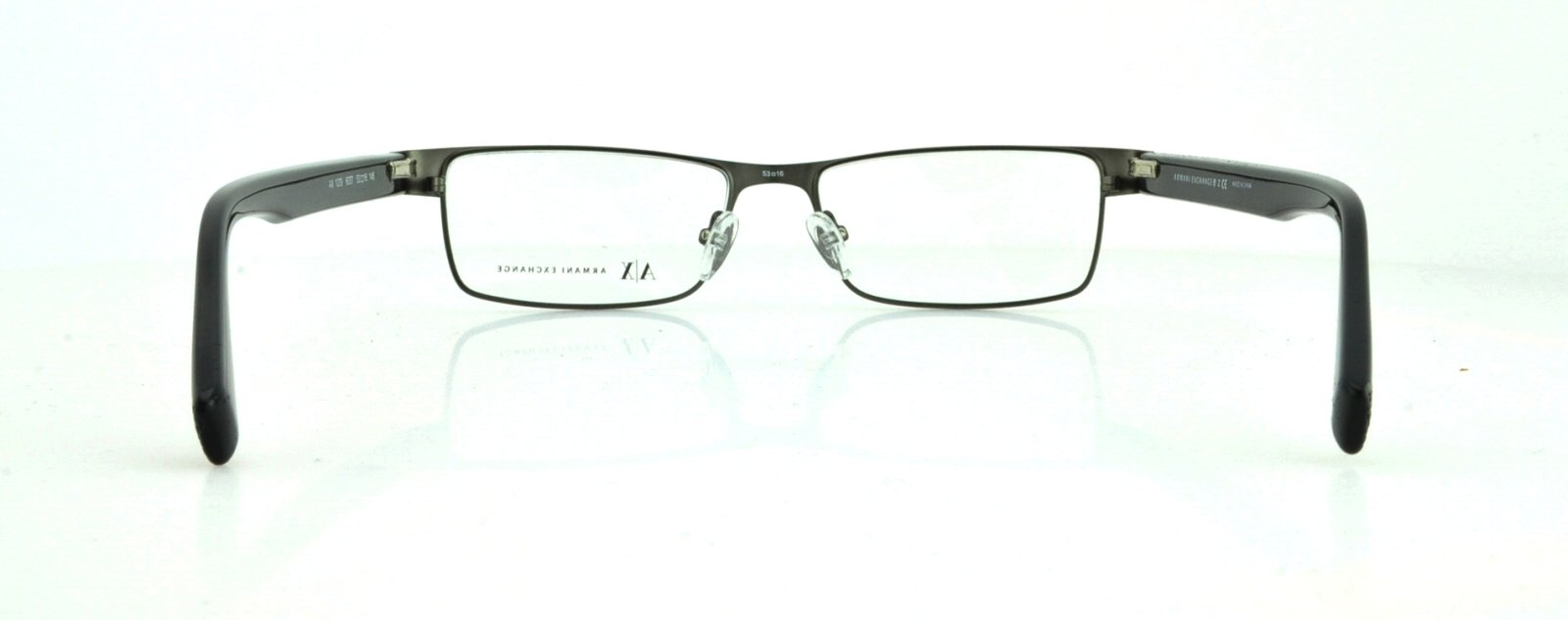 Armani Exchange AX1009 Eyeglass Frames 6037-53 - Satin Gunmetal/Black AX1009-6037-53