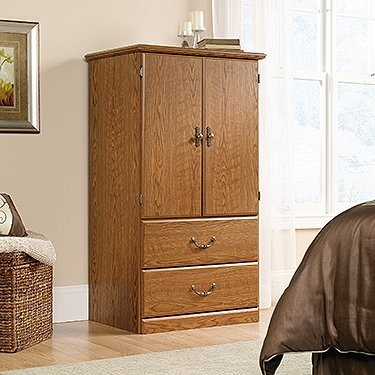 Sauder Orchard Hills Armoire, Carolina Oak Finish
