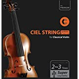 CIELmusic Violin Strings, Violin String Set, Silver Strings, Synthetic Core, Aluminum Wound, G-D-A-E 1 Set, All(4/4, 3/4, 1/2 and other) Scale Applicable