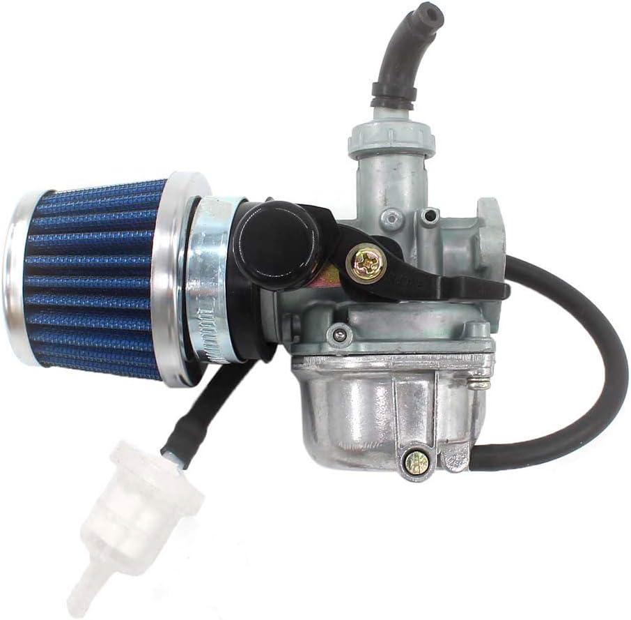 Nrpfell Carburateur Pz19J 19 Mm pour Moteurs 2 Temps 50Cc 1E40Qmb avec Filtre /à Carburant