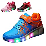 Gaorui Christmas Kid Youth Girl Boy Light Up wheels Roller Shoes Skates Sneakers Birthday Gift