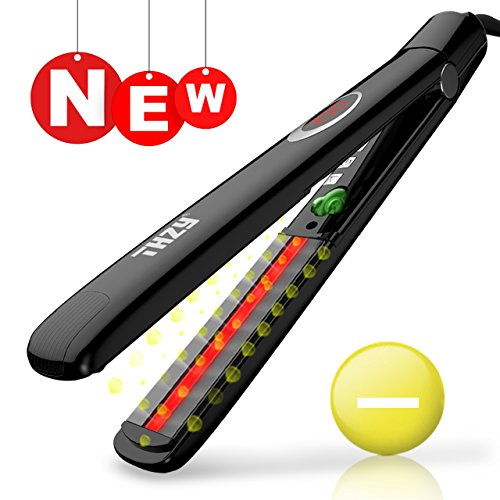 Price comparison product image Hair Straightener Ceramic Tourmaline Ionic Flat Iron - Worldwide Dual Voltage 110v-220v Salon High Heat 250¡ãF-450¡ãF 1 Inch