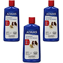 (3 Pack) Adams d-Limonene Flea and Tick Shampoo for Cats and Dogs, 12 Ounce