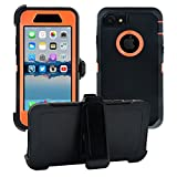 AlphaCell Cover compatible with iPhone 7/8 (NOT Plus)   2-in-1 Screen Protector & Holster Case   Full Body Military Grade Protection with Carrying Belt Clip   Protective Drop-proof Shock-proof