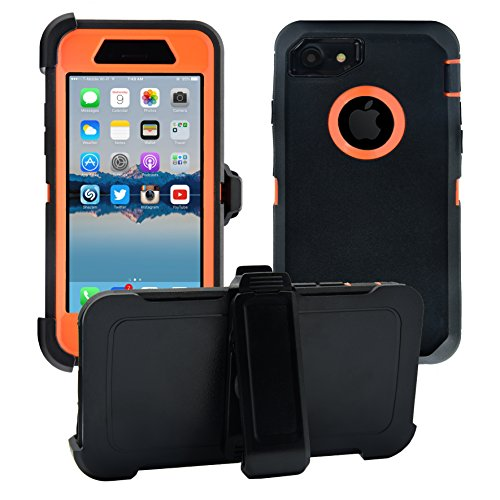 (AlphaCell Cover compatible with iPhone 7/8 (NOT Plus) | 2-in-1 Screen Protector & Holster Case | Full Body Military Grade Protection with Carrying Belt Clip | Protective Drop-proof Shock-proof)
