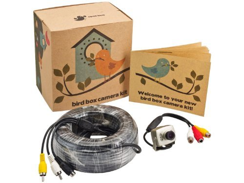 Bird House Camera Kit with Night Vision 700 TV Lines and 65 Foot AV Cable Perfect for Garden Wildlife, Nest Boxes and Bird Houses