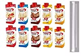Premier Protein Shakes Drinks - Low Carb High Protein Shakes Variety 10 Pack (30g) | 2 of Each Flavor - Chocolate, Strawberry, Vanilla, Banana and Caramel | Bonus of 10 Individually Wrapped Straws