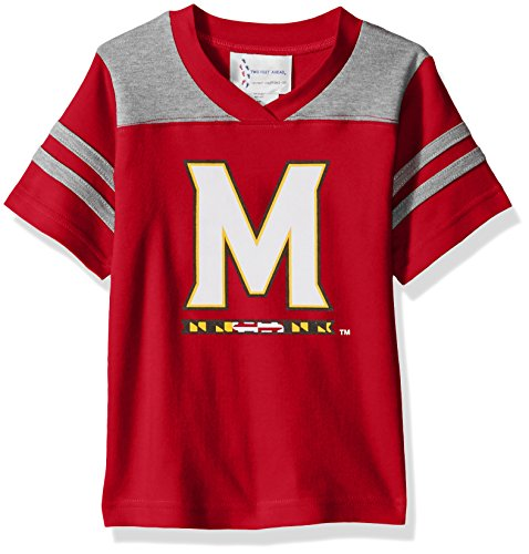 Two Feet Ahead NCAA Maryland Terrapins Toddler Boys Football Shirt, Red, 3 (Jersey Football Ncaa Shirt)