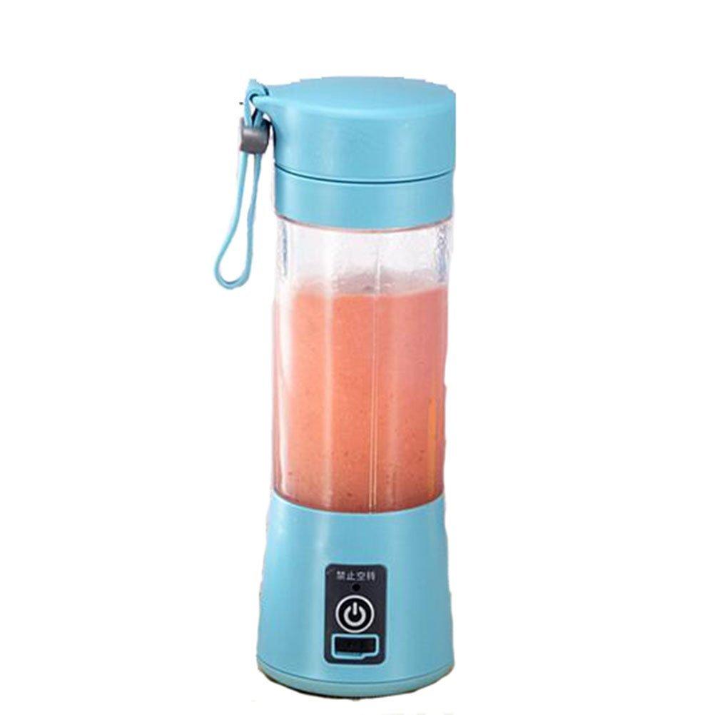 XGLL Batidora De Vaso, Eléctrica USB Licuadora Juice Blender Portátil Licuadora Exprimidora para Verduras Y Frutas, Blue: Amazon.es