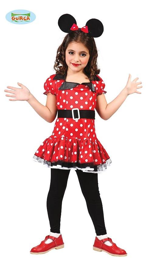 5f06ddf96be7 Costume Minnie topolina topina bambina TAGLIA 10-12 ANNI: Amazon.it ...