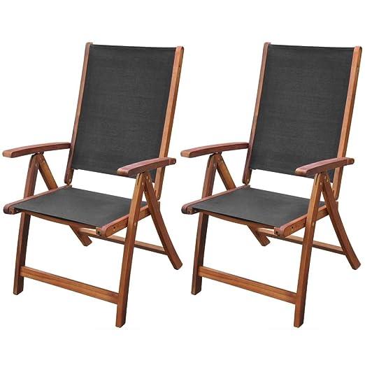 Tuduo Juego de 2 Unidades sillas Plegables de Madera de ...