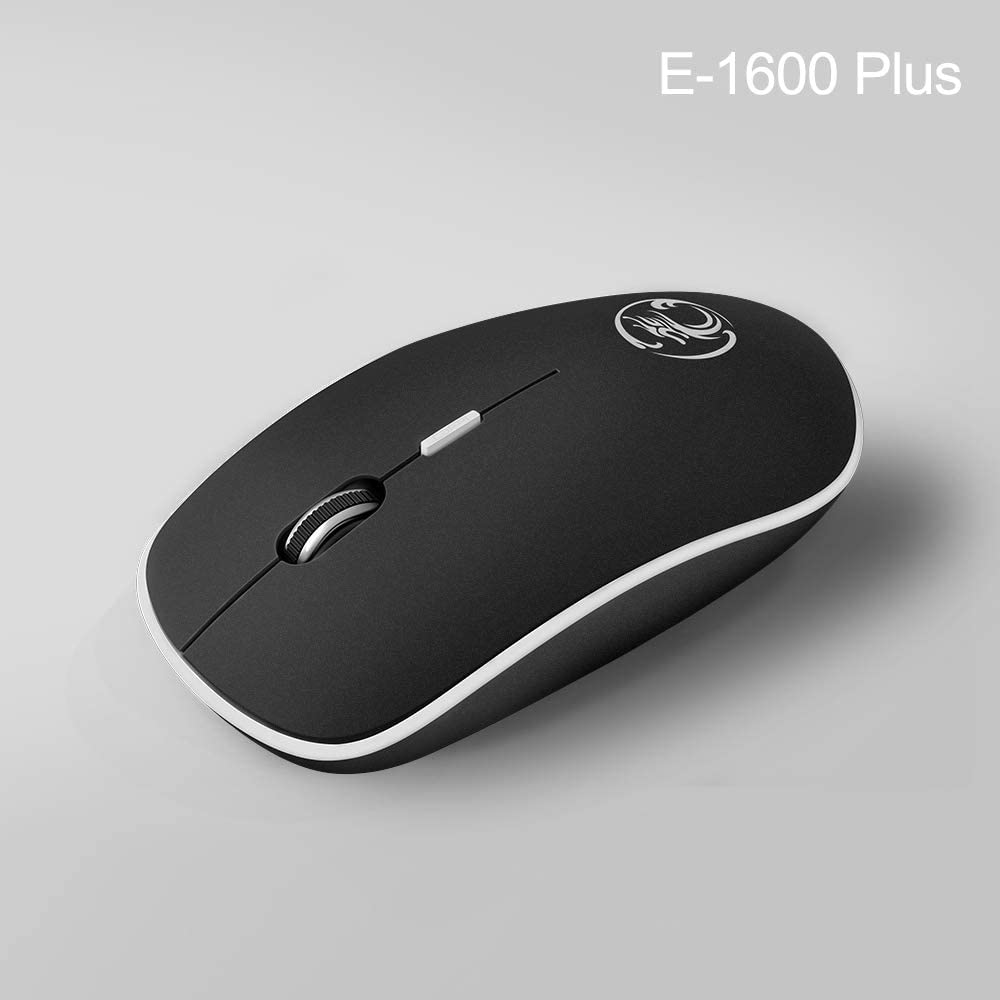 BINGFEI Wireless Mouse USB Computer Mouse Mini Ergonomic Mouse Optical Silent PC Mice 2.4GHz Power Saving Office Mause for Laptop,Grey