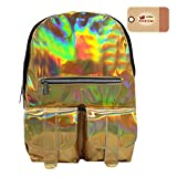 Goodbag Boutique Women Hologram Backpack Laser Shiny School Travel Backpack