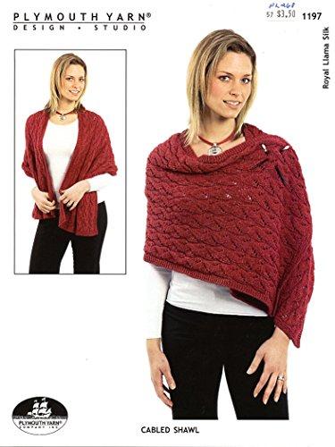 Royal Llama Silk Yarn - Cabled Shawl - Plymouth Royal Llama Silk Knitting Pattern 1197