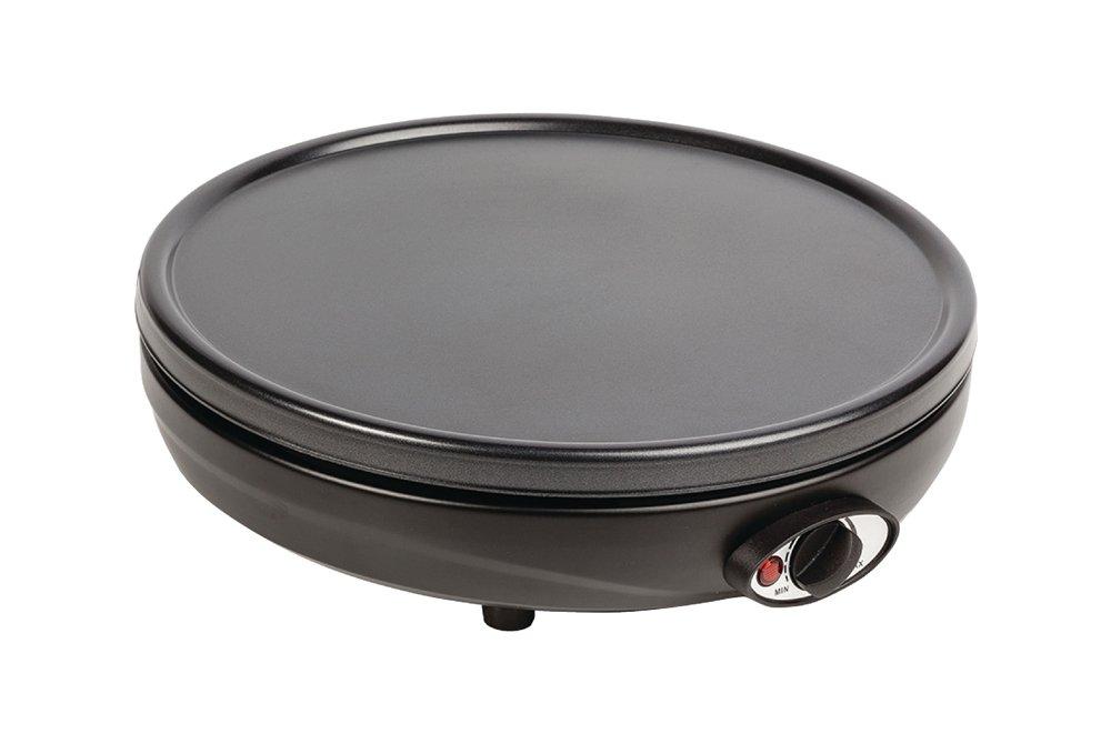 Vetrineinrete® Macchina per crepes crepiera diametro 30 cm 1000 watt crepe maker temperatura regolabile con spatola inclusa A38