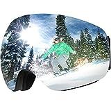 OMORC OTG Ski Snow Goggles, 100% UV400 Protection Frameless Anti-Fog Snowboard Goggles