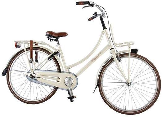 Volare Bicicleta Niña Excellent 26 Pulgadas Freno Delantero al Manillar y Trasero Contropedal Portabultos Blanco 95% Montado: Amazon.es: Deportes y aire libre