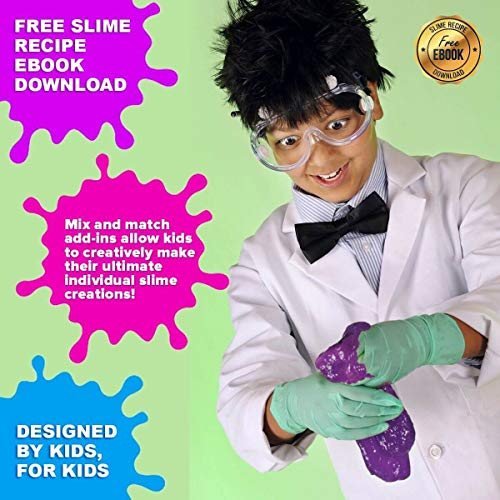 Ultimate Slime Kit for Girls and Boys | Slime Kit with Slime Supplies | Complete DIY Slime Making Kit | Includes Slime Ingredients, 10 Colors, 8 Different Add-Ins | Colorful Slime Kits for Family Fun by Lily and Lee's Craft Accessories Shoppe (Image #6)