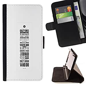 Jordan Colourful Shop - Motivational Poster Calligraphy Inspiring For Sony Xperia Z3 D6603 - Leather Case Absorci???¡¯???€????€???????