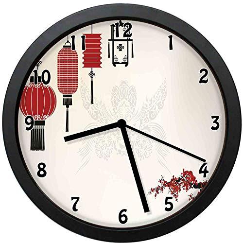 YiiHaanBuy Hawaiian Decorative Wall Clock,Porthole Inside Ship ()
