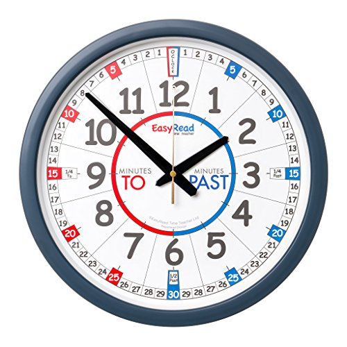 EasyRead Time Teacher Children's Wall Clock with simple 3-St
