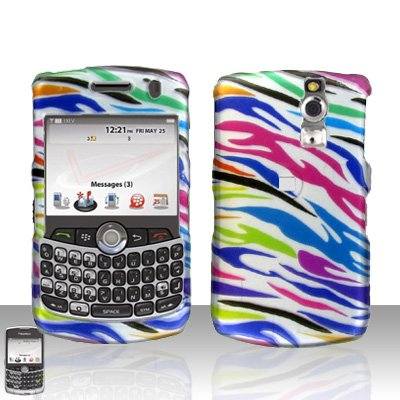 Rainbow Zebra Snap on Hard Protective Cover Case for 8330 8300 8310