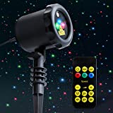 MYCARBON Outdoor Laser Light Projector Static Christmas Laser Light Show Red Green Blue Holiday Projection Lights Waterproof Flash Laser Lights for Christmas,Party,Patio,Lawn,Yard,Garden Decoration
