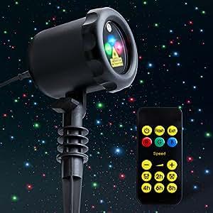 Amazon Com Mycarbon Outdoor Laser Light Projector Static